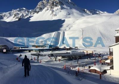 France: Détermination des profondeurs de glace
