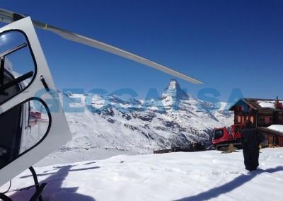 Zermatt: Déterminaion de la profondeur de neige et de glace