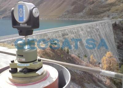 Barrage de Cleuson : surveillance géodésique