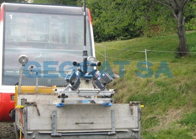 Funiculaire SMS Sierre-Montana : Laserscann mobile