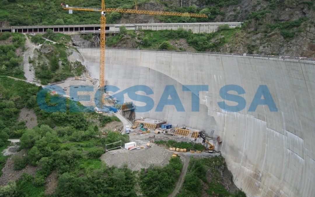 Barrage des Toules : Confortement chantier