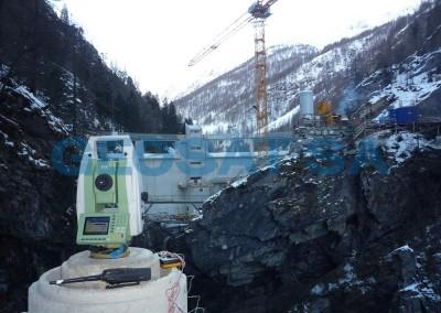 Barrage de Serra : surveillance géoédisque + chantier